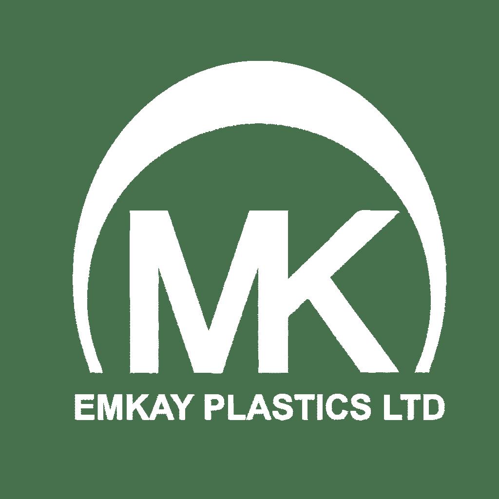 Emkay Plastics White Logo